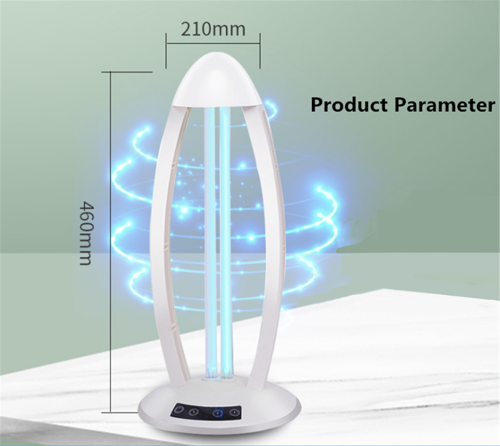 360° 36W Ultraviolet Sterilizer Lamp 220V Germicidal UVC Disinfection Lamp Acaricide Coronavirus Prevention With Remote Control 35