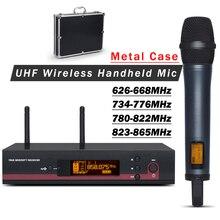 Профессиональный 135 G3 UHF беспроводной микрофон микрофонная система с металлический чехол! Одиночный портативный передатчик для сценического представления
