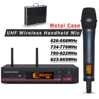 Professional 135 G3 UHF Wireless Microphone Mic System With Metal Case !! Single Handheld Transmitter for Stage Performance
