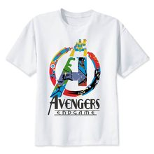 2019 Neweset Avengers Endgame T Shirt Pria/Wanita Ironman Captain America Akhir Game Marvel T-shirt Superhero Custom Tshirt Pria(China)