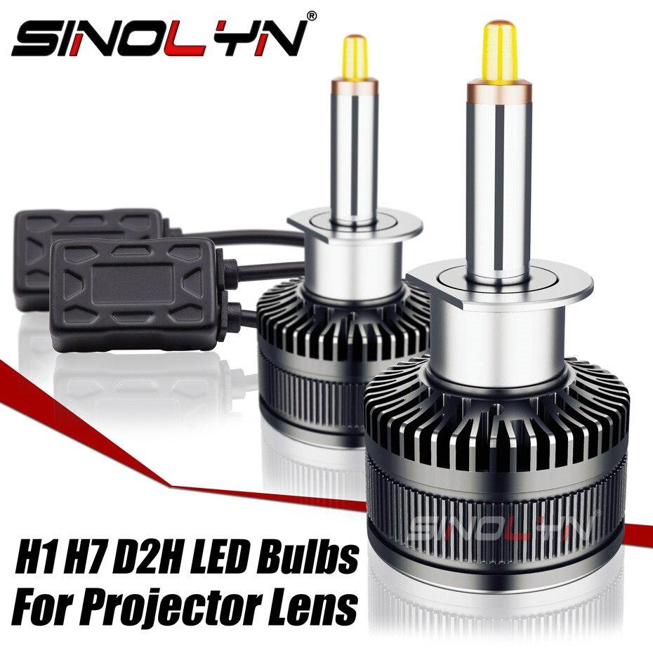 Sinolyn LED H7 H1 D2S D2H H11 9005 9006 Projecteur PHARE LED Ampoule Antibrouillard Lentille 70W 8000LM VOITURE Accessoires Tuning 5500/6500K