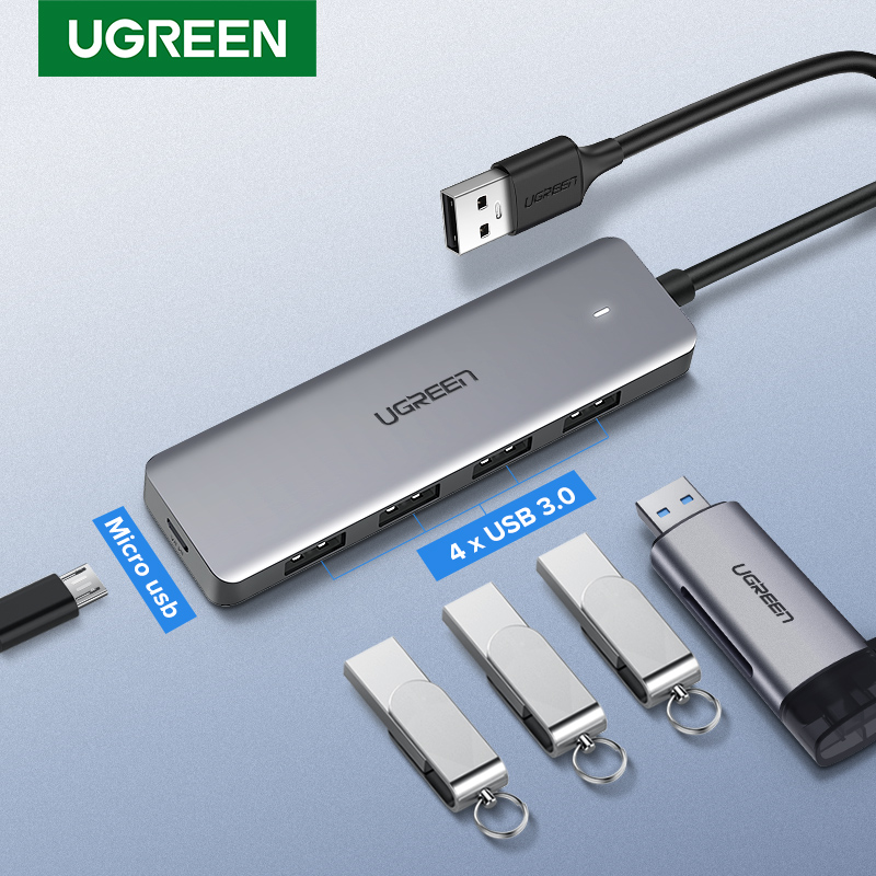 Ugreen USB 3.0 HUB Multi USB Splitter 3 USB3.0 Port With Micro Charge For MacBook Surface Pro 6 PC Computer Accessories USB HUB