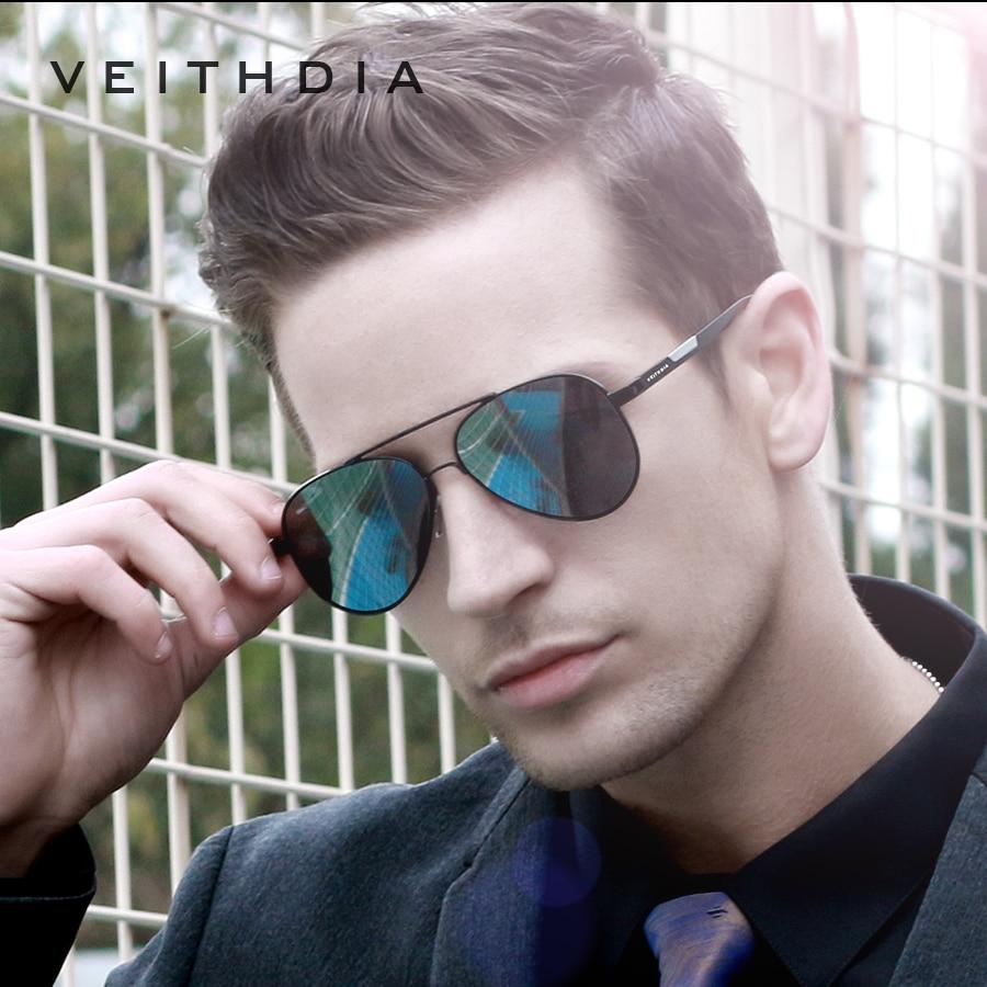 VEITHDIA V6699 Men's Aluminum Alloy Photochromic Sunglasses Polarized UV400 Lens Eyewear Accessories Male Sun Glasses For Men