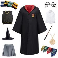 Akcesoria dla dorosłych dzieci Potter kostiumy Cosplay magiczne stroje koszula ubrania typu Cosplay szata Potter kostium hermiona mundurek szkolny tanie tanio CN (pochodzenie) Spódnice Film i TELEWIZJA Unisex Zestawy