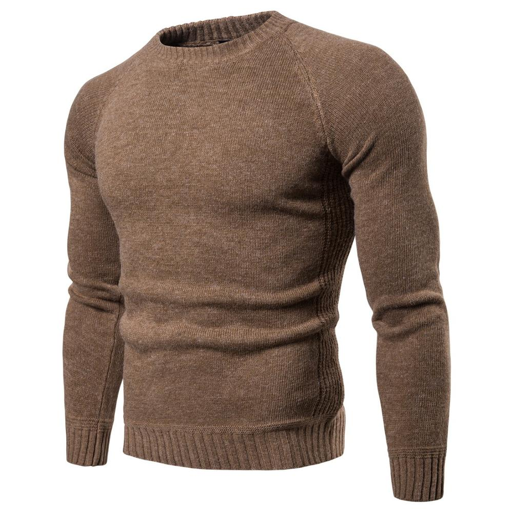 Men Knitted Sweaters Warm O Neck Pull Knitwear Autumn Winter Sweater Clothes