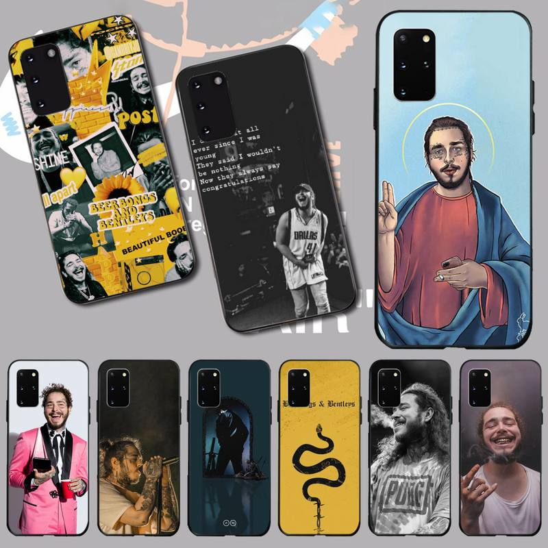 NBDRUICAI post malone DIY Painted Bling Phone Case for Samsung S20 plus Ultra S6 S7 edge S8 S9 plus S10 5G