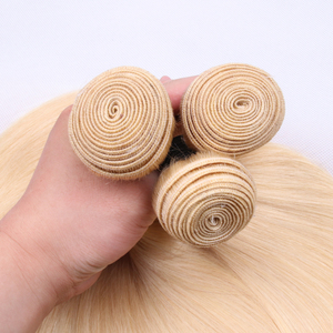 Image 4 - 613 # venda a granel 3 4 9 pacotes em linha reta cabelo humano loira extensão do cabelo brasileiro remy cabelo reto longo 30 polegada jarin cabelo