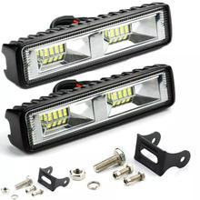 2pc Led Licht Bar 48w Led Bar 16 LEDs Auto Licht Für Led Bar Offroad SUV ATV Traktor boot Lkw Bagger 12V Arbeit Licht