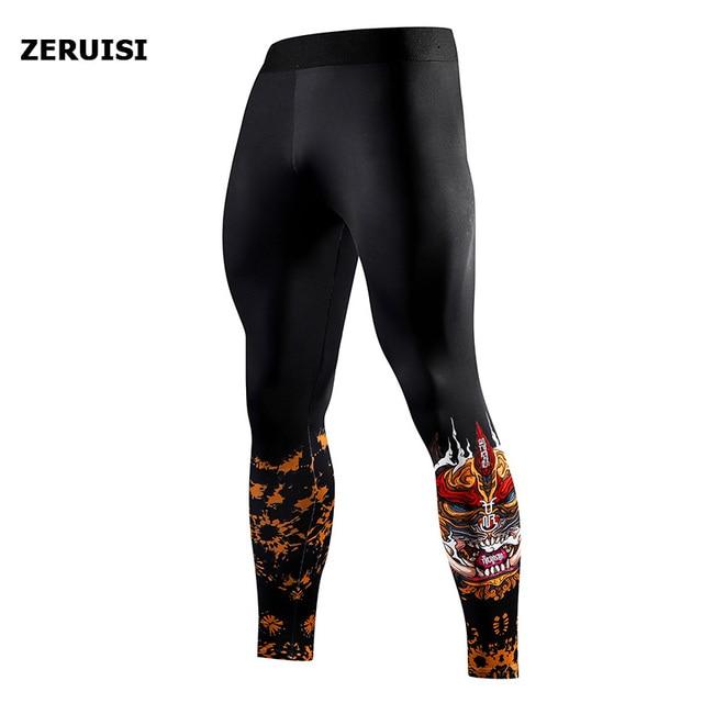 Pantaloni aderenti da corsa allenamento Fitness sport abbigliamento uomo 1