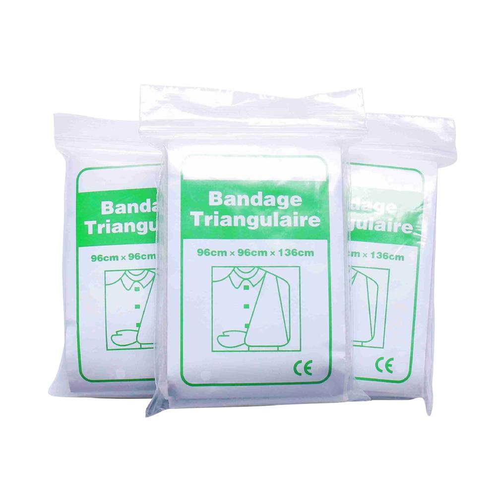 10Pcs Non-woven Triangle Bandage Thickened Gauze First Aid Kit Sterilization Medical Rescue Self Adhesive Elastic Wristband
