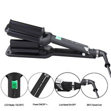2 Barrels Big Wave Hair Curling Iron Automatic Perm Splint Ceramic Hair Curler Hair Waver Curlers Rollers Styling Tools automatic ion perm ceramic hair curler smart rotator hair curling iron wand lcd hair waver curlers styling tools