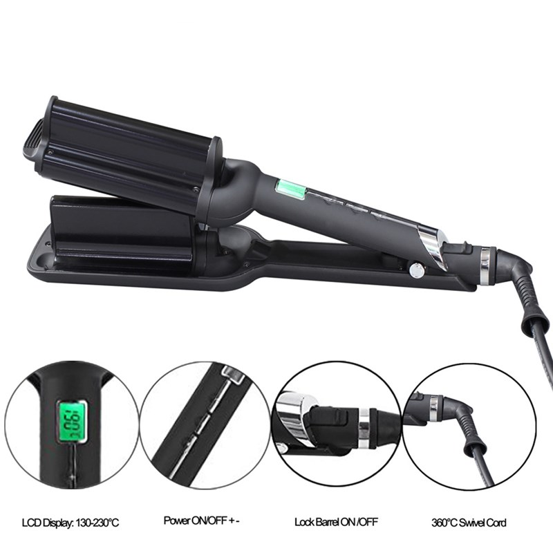 2 Barrels Big Wave Hair Curling Iron Automatic Perm Splint Ceramic Hair Curler Hair Waver Curlers Rollers Styling Tools