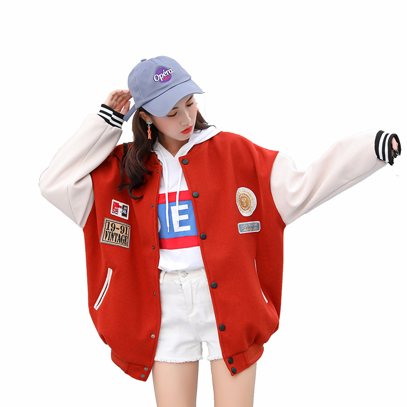 Modern Fashion Casual   basic     jacket   coat Autumn 2019 New street satin bomber   jacket   Women reversible baseball   jackets   sukajan