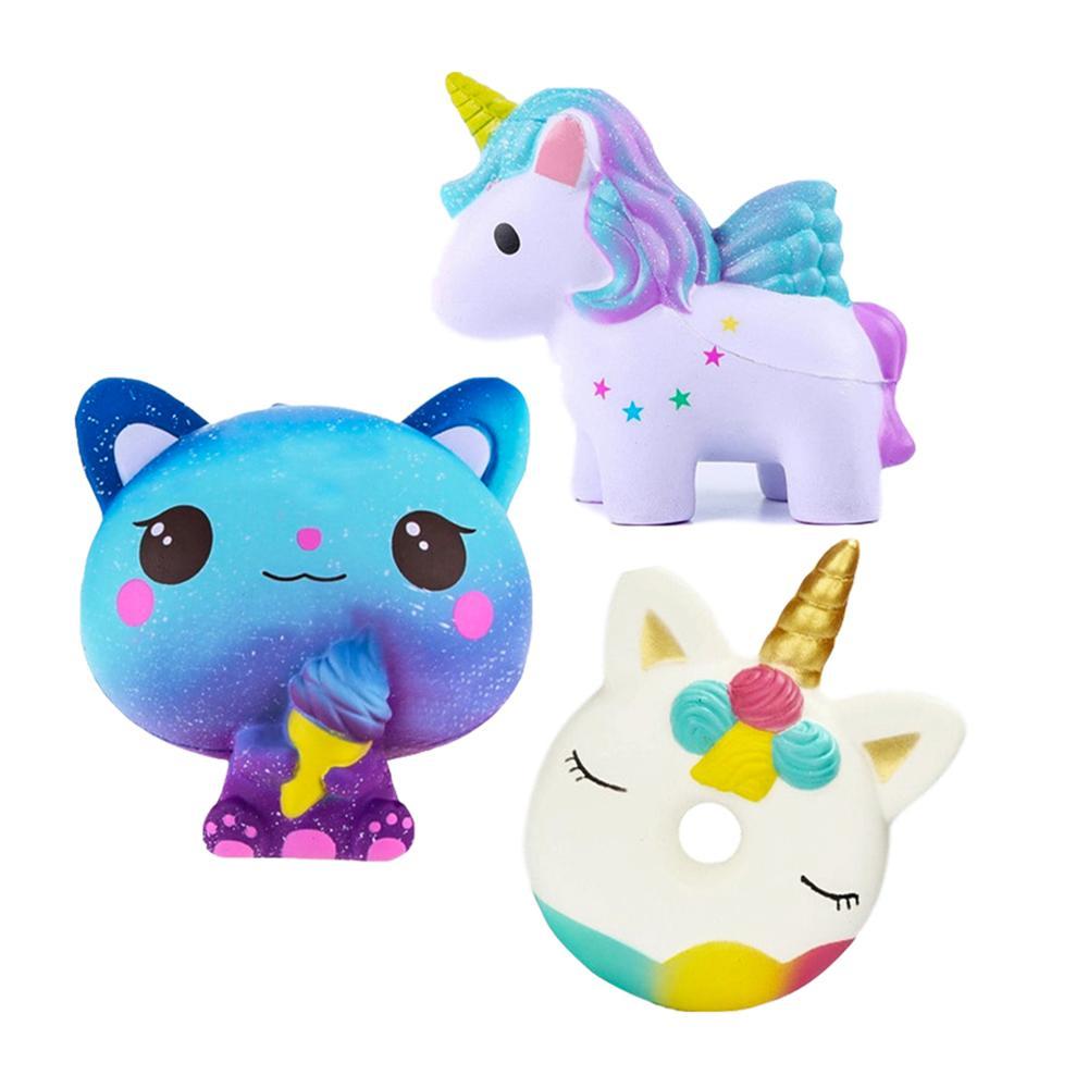 Squishy Cat Unicorn Squishies Slow Rising Jumbo Squishy Toys Panda Food Animals Donut Milk Squeeze Toys For Children