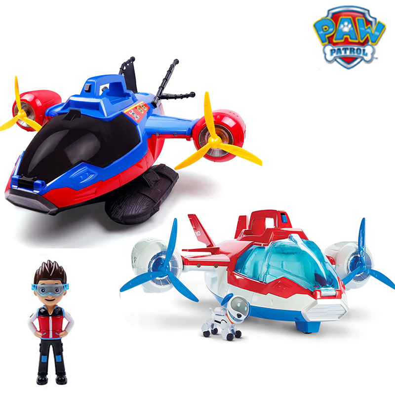 Paw Patrol Toys Air Patrol Rescue Aircraft Captain Robot Dog Sound Effect Plane Patrulla Dogs Action Figures Juguetes Gift