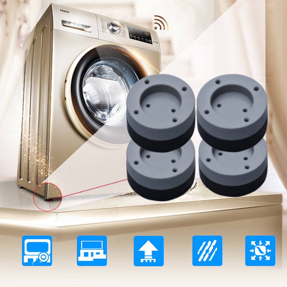 4Pcs Washing Machine Rubber Mat Anti-Vibration Pad Universal Fixed Non-Slip Pad