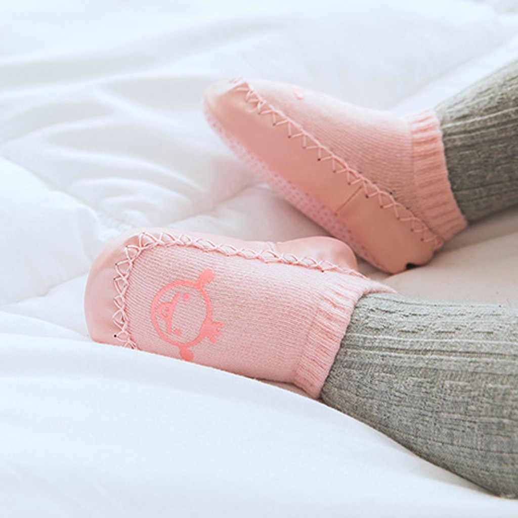 Noworodka wiosna jesień zima niemowlę dziecko chłopcy dziewczęta zwierząt ciepłe pantofle antypoślizgowe klapki buty podłogowe skarpety gumowe podeszwy śliczne