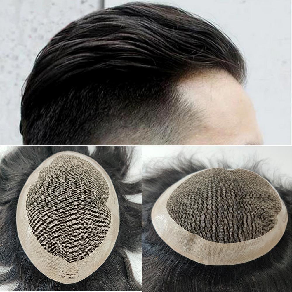 do cabelo sistema artesanal 8x10 peruca homem