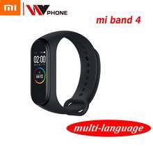 Original XiaoMi Mi Band 4 스마트 팔찌 피트니스 팔찌 MiBand Band 4 빅 터치 스크린 메시지 심박수 시간 Smartband
