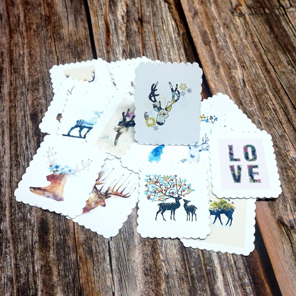 22PCS Lovely Deer Waterproof Stickers DIY Scrapbooking Stationery Diary Decorative Stickers Kids Girls Students Gift Sticker Toy