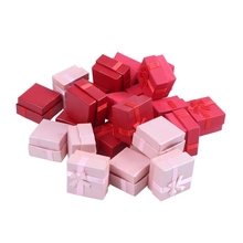 New 24-Piece Gift Box Set - Square Ring Jewelry Box for Anniversaries, Weddings, Birthdays, Assorted Colors