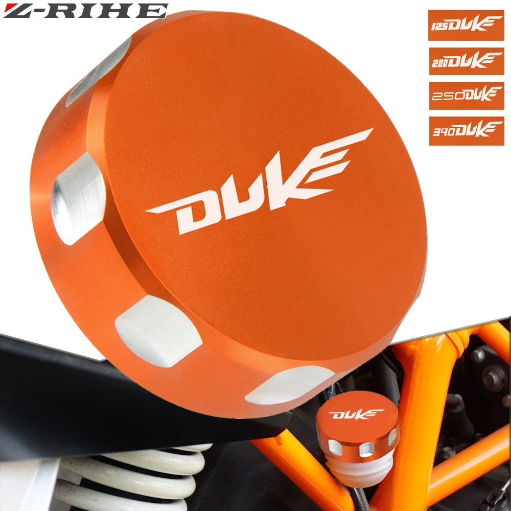 For KTM DUKE 390 Rear Brake Fluid Reservoir Cover Cap For KTM duke DUKE 390 125/200 250 2013 2014 2015 2016 2017 2018 with logo image