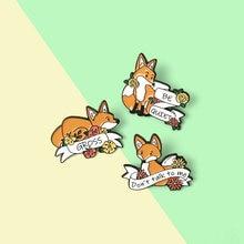 Баннер fox эмали штырь изготовленный на заказ лес милые животное