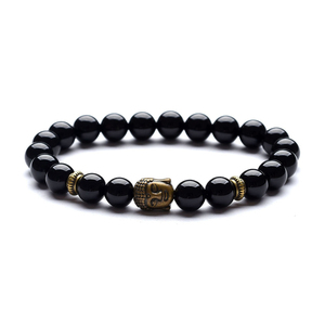 Image 5 - Bracelet pendentif de Yoga, Vintage, breloque, bijou de méditation religieuse, bouddha pour hommes, nouveauté, pierre naturelle, Bracelets pour femme