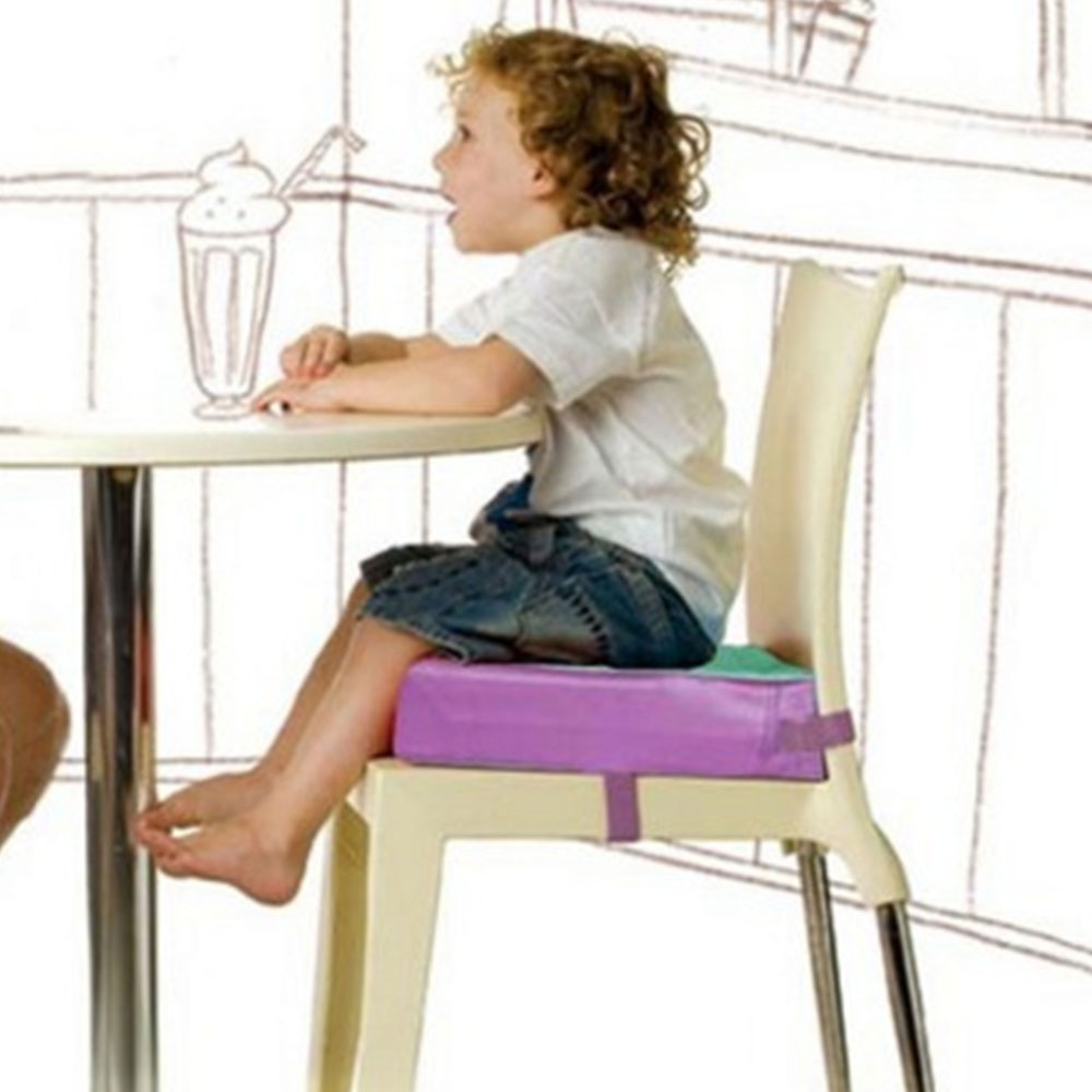 Kids Dining Booster Pad Adjustable Baby Furnitur Booster Seat Portable Kids Increased Chair Pad Removable Chair Cushion Booster