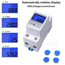 230v 5(80) uma monofásica digital wattmeter lcd backlight multímetro tensão medidor de energia corrente kwh medidor de energia montagem em trilho din