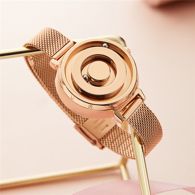 Magnetic Gold Watch EUTOUR Luxury Ladies Watch Quartz Woman Watch 2019 Stainless Steel Wrist Watch Fashion Female Clock Dropship