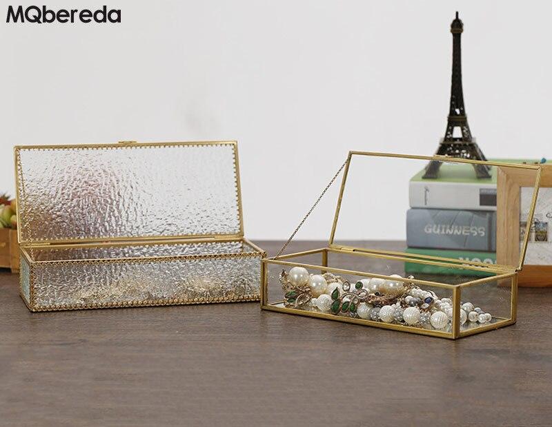 Boîte à bijoux en verre Rectangle moderne de haute qualité cadre de bijoux européen rétro emballage de bijoux et accessoires de cadre d'affichage