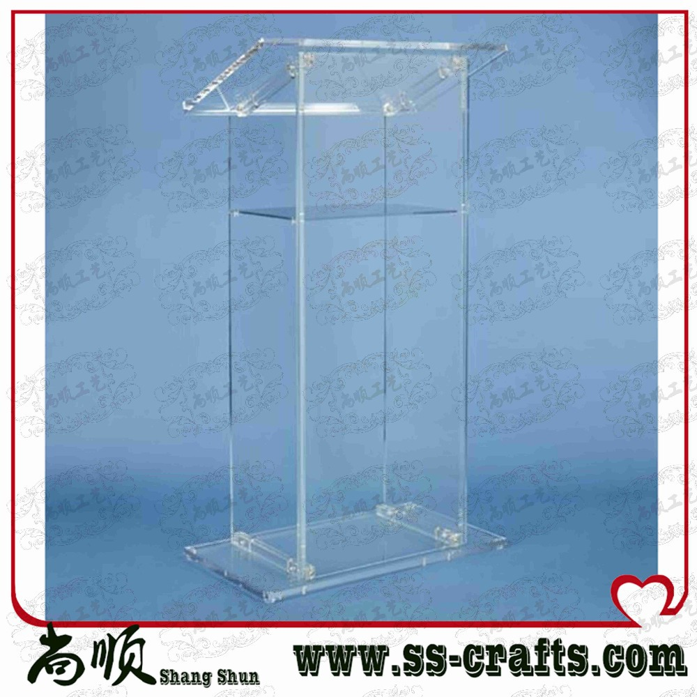 Luxury Acrylic Lectern,Perspex Podium,Plexiglass Church Pulpit Plexiglass