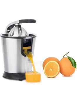 H Koenig Exprimidor Eléctrico para Cítricos y Naranjas Profesional 160 W Libre de BPA Servicio Directo de Vertido Continuo
