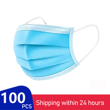 In Stock Disposable Filter Mask3 Layers Fast Delivery 100pcs T Face Masks Facial Cover Dust Masks Mascarillas