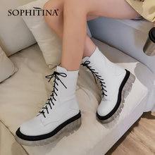 Женские ботинки из натуральной кожи sophitina мотоциклетные