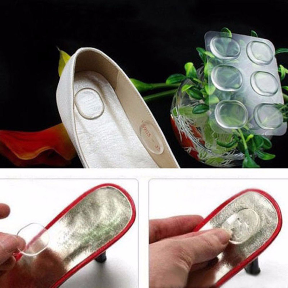 6 Pcs Shoes Gel Silicone Round Stickers Women Ladies Girls Silicone Gel Shoe Insole Inserts Pad Cushion Heel Grips Liner