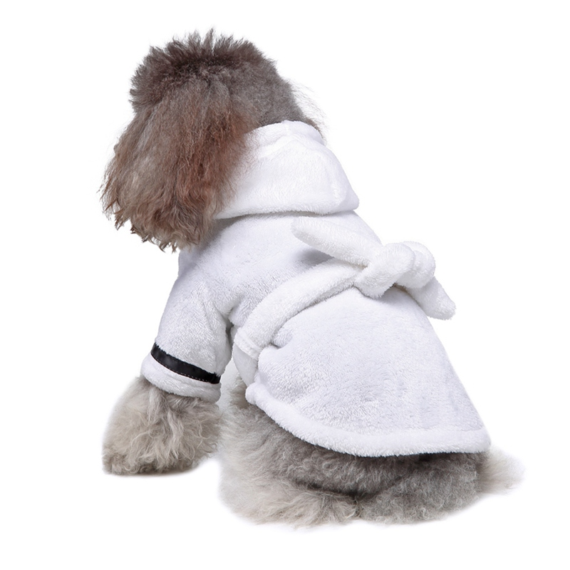 Pet Pajama With Hood Thickened Luxury Soft Cotton Hooded Bathrobe Quick Drying And Super Absorbent Dog Bath Towel