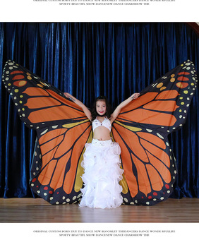 wings Belly Dance Wings Butterfly Wings Sticks Ba Belly Dancing Costume Children Women Adult Bellydance Colorful Wings
