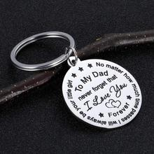 Keychain Jewelry-Present Gifts Father-Day-Birthday-Gift Daddy Daughter Papa for Thanksgiving-Day