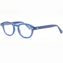 LEMTOSH glasses blue frame JOHNNY DEPP style glasses vintage glasses three size options glasses cheap NoEnName_Null Unisex Acetate Eyewear Accessories geometric lemtosh-blue FRAMES