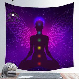 Image 5 - Notte stellata Galaxy Decor Psichedelico Arazzo Appeso A Parete Indiana Mandala Arazzo Hippie Chakra Arazzi Boho Panno Parete