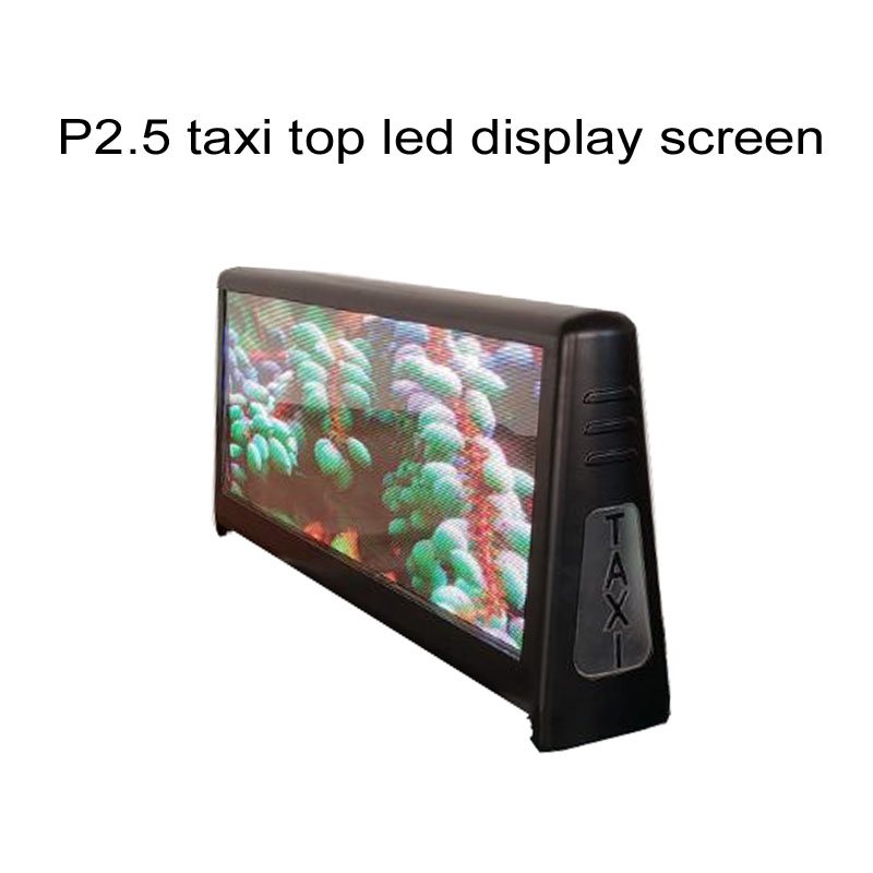 P2.5 Double Sides  Full Color Water Proof Digital Signs Car  Screen Taxi Top Led Advertising Display Screen