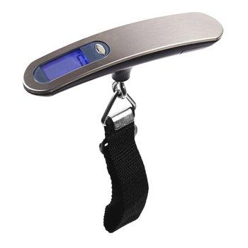 Портативные Ручные весы для багажа из нержавеющей стали, 50 кг, портативные электронные весы, экспресс-электронные весы для багажа, безопасн...