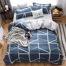 Geometric lines Bedding Set Grey Duvet cover Bed Linen Single Queen King Size Bedclothes 3PCS