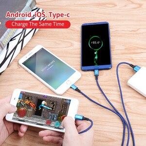 Image 5 - Câble USB Soopii 1.2M 3 en 1 type c & ios & micro câble chargeur USB 3A câble USB de charge rapide 2 paquets
