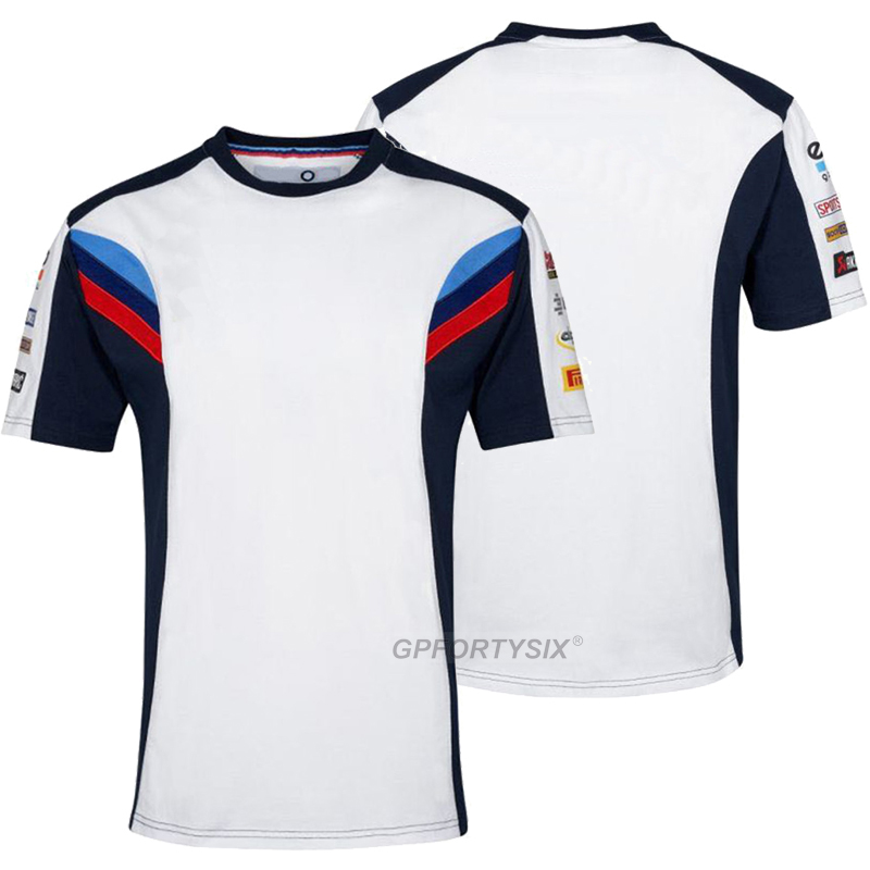 Summer Motorrad Motorcycle Racing T-shirt For BMW Super Speed Motorbike Riding T Shirt Motocross Bicycle Cycling Short Jersey