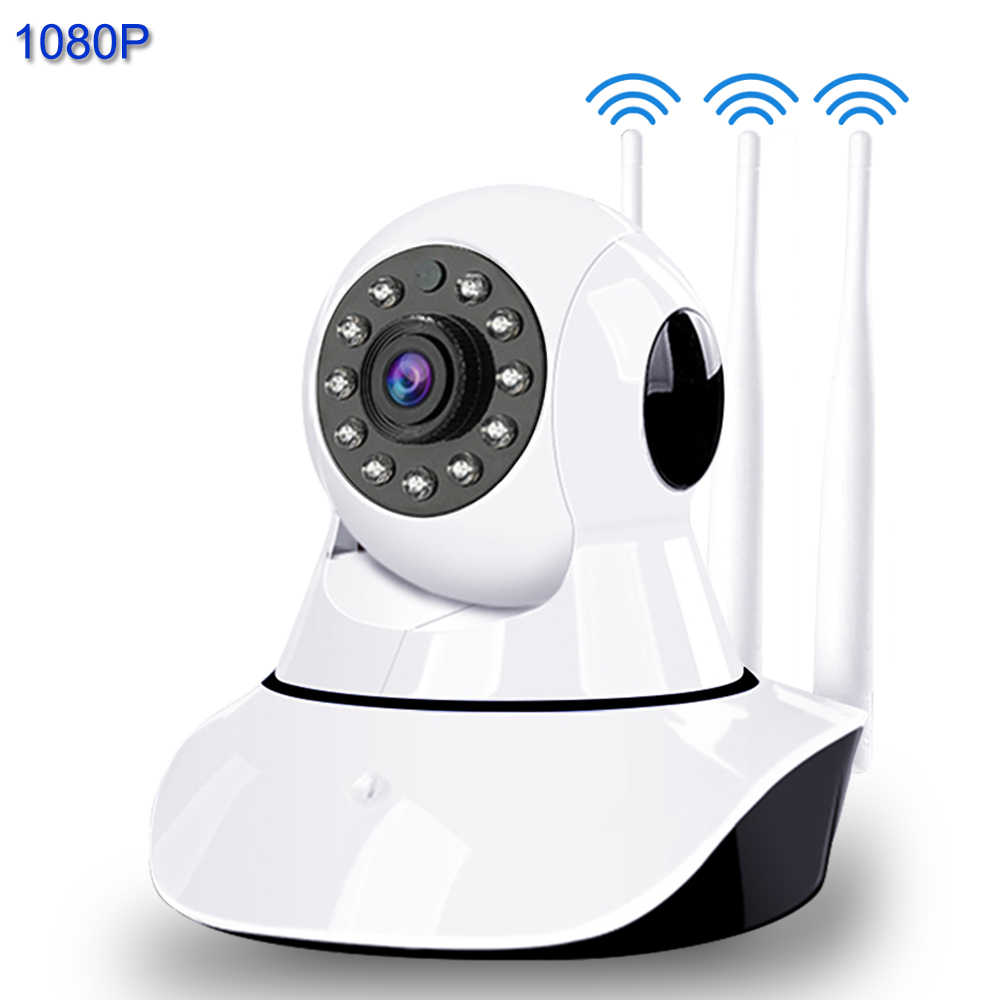 1080P 3 Antena IP Camera Smart WIFI Sinyal Enhancement IR Malam Visi Pengawasan Kamera Rumah Keamanan Wireless Baby Monitor