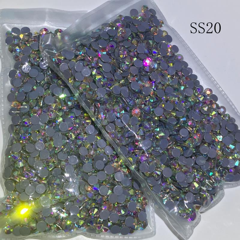 Стразы с горячей фиксацией SS20 AB 6 сумок/хрустальные стразы с горячей фиксацией, стразы, швейные стразы, камни с плоской задней поверхностью, ...