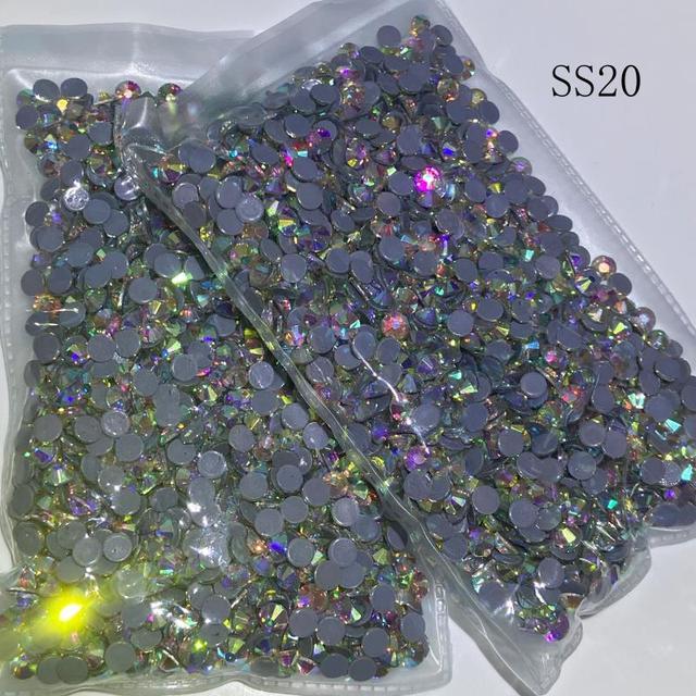 Poprawka Rhinestone SS20 AB 6 worków/log kryształ hot fix kamień żelazko na Rhinestone szycie ubrań strass kamienie flatback DMC kamień